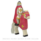Holztiger Red Riding Knight with Cloak Riding Tournament Horse