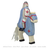 Holztiger Blue Knight with Cloak Riding Tournament Horse