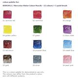 Watercolour Pencils Colours