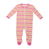 Silkberry Bamboo Footed Sleeper - Pink Triangle