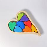 Grimm's Wooden Hearts Decoration - Rainbow