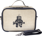 So Young Raw Linen Lunch Box - Grey Robot