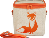 So Young Raw Linen Large Cooler Bag - Fox