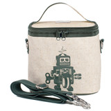 So Young Raw Linen Cooler Bag - Grey Robot