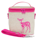 So Young Raw Linen Cooler Bag - Pink Fawn
