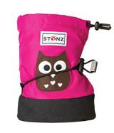 STONZ Booties - Owl Fuchsia Size Small