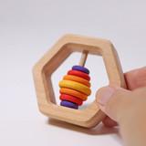 Grimm's Hexagon Rattle with 7 Discs