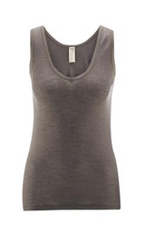 Living Crafts Wool/Silk Sleeveless Tank - Charcoal