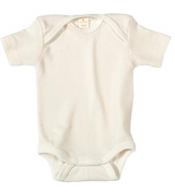 Living Crafts Organic Cotton Short Sleeve Onesie - Natural