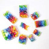 Grimm's 120 Small Wooden Beads - Pastel (12 mm)