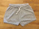 Nui Organics Toni Shorts - White with Taupe Grey Bubbles