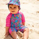 UV Swimsuit - Stripe Floral
