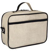 So Young Raw Linen Lunch Box - Bunny Tile