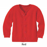 Disana Merino Wool Cardigan Red
