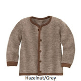 Disana Merino Wool Cardigan Hazelnut/Grey