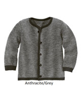 Disana Merino Wool Cardigan Anthracite/Grey