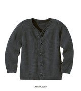 Disana Merino Wool Cardigan Anthracite