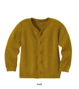 Disana Merino Wool Cardigan Gold
