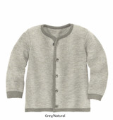 Disana Merino Wool Cardigan Grey/Natural