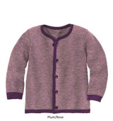 Disana Merino Wool Cardigan Purple/Rose
