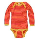Engel Baby Bodysuit Organic Merino Wool - Hibiscus/Sunshine Yellow