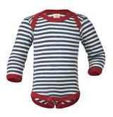 Engel Merino Wool Onesie - Blue Stripe