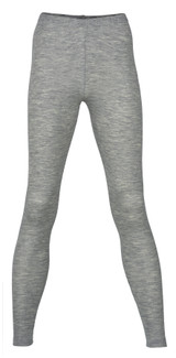 Engel Organic Merino Wool/Silk Women's Leggings - Grey  Melange