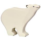 Holztiger Polar Bear Head Raised