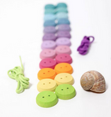 Grimm's Thread Game Small Buttons Pastel (24 pc)