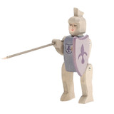 Ostheimer Wooden Knight Riding Blue with Shield and Lance