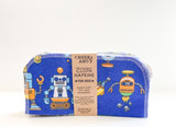 Cheeks Ahoy Kid's Cloth Napkins - Cool Trucks, Robots and Animals