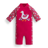 UV Swimsuit - Pink with Duck