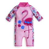 UV Swimsuit - Pink with Flamingo