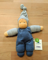 Nanchen Organic Wuschel Doll - Blue/Light Blue