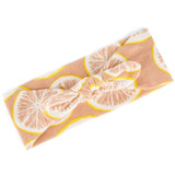 Grapefruit Bow Headband by Milkbarn - Organic Cotton
