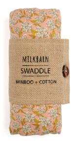 Milkbarn Bamboo Swaddle - Rose Floral