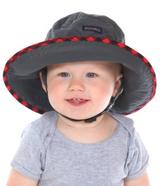 Snug As A Bug SPF 50 Adjustable Nylon Hat - Charcoal