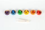 Grapat Coloured Bowls and Balls with Tongs