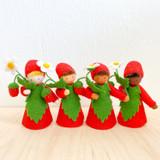 Strawberry with Flower in Hand - Flower Children