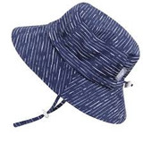 Jan & Jul Bucket Cotton Sun Hat - Navy Waves