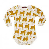 Milkbarn Organic Cotton Long Sleeve Onesie - Cheetah
