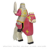 Holztiger Red Riding Knight Sword Up with Tournament Horse (80254)