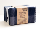 Cheeks Ahoy Cloth Wipes - 10 Pack Plaid