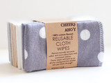 Cheeks Ahoy Cloth Wipes - 10 Pack Polkadot