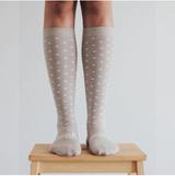 Lamington Knee High Length Merino Wool Socks Woman - Truffle