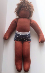 Nanchen Dressable Doll Felix (dark skin, brown hair)