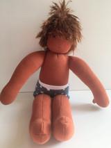 Nanchen Dressable Doll Felix (dark skin, brown hair)