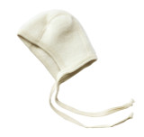 Engel Organic Merino Wool Fleece Baby Bonnet - Natural