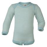 Engel Baby Onesie Organic Merino Wool/Silk - Glacier Natural