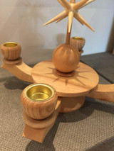 Advent Small Candle Holder Natural with Wooden Star